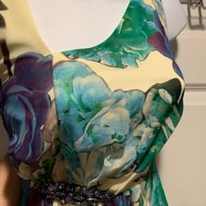 NEVER WORN- Nine West Floral Maxi Gown- Size 4